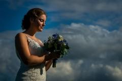 Bruid met trouwboeket
