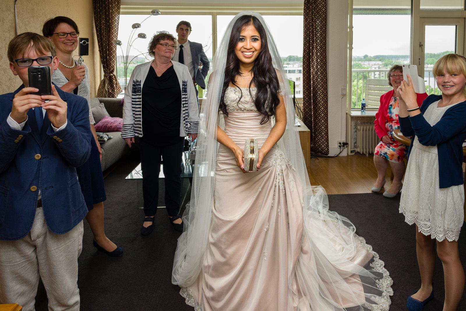 Bruidsfotografie Bruid Firstlook Utrecht Parel van Zuilen
