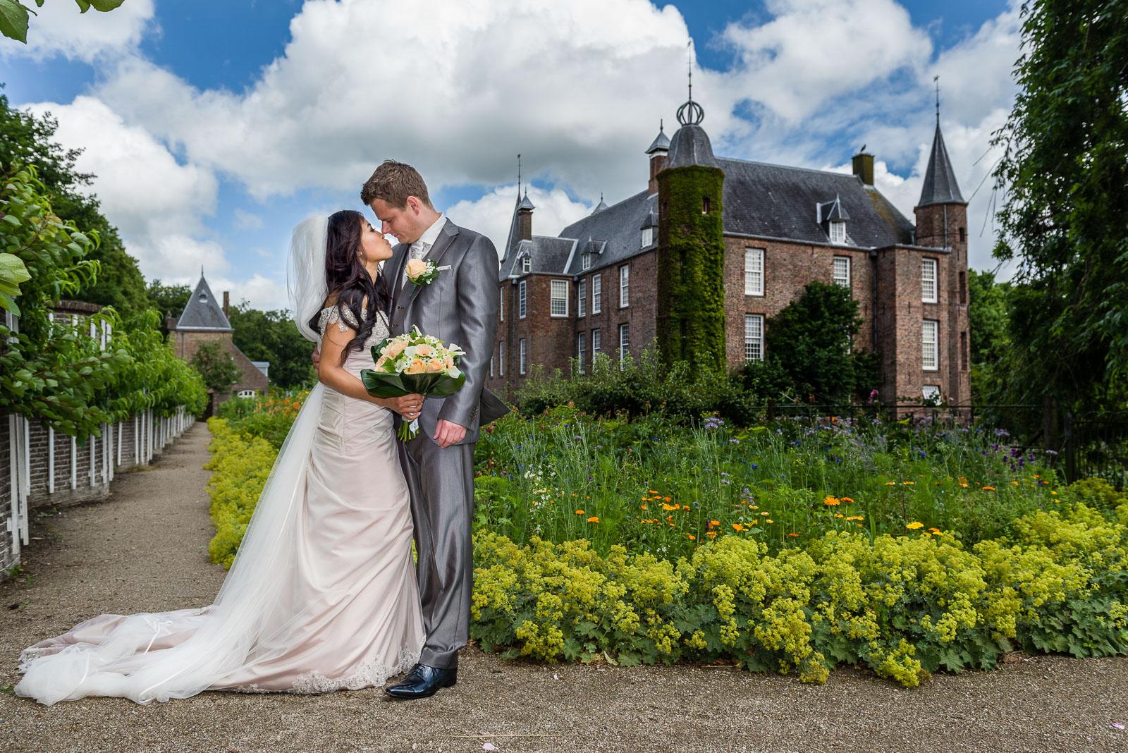 Bruidsfotografie Slot Zuylen Utrecht Parel van Zuiilen