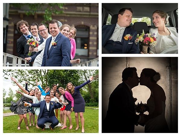 Bruiloft Utrecht collage trouwreportage