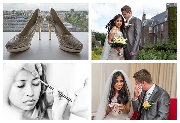 Bruiloft Utrecht collage bruidsreportage
