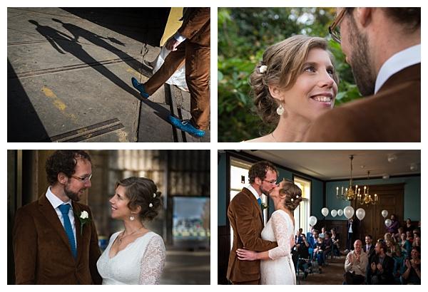 Bruiloft Utrecht Parel van Zuilen collage trouwreportage