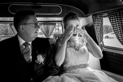 Emoties bij de bruid en haar vader