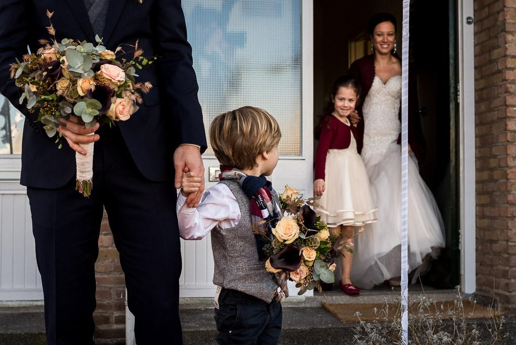 FirstLook bruiloft met kinderen