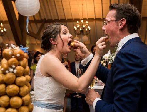 Originele bruidstaart de croque en bouche